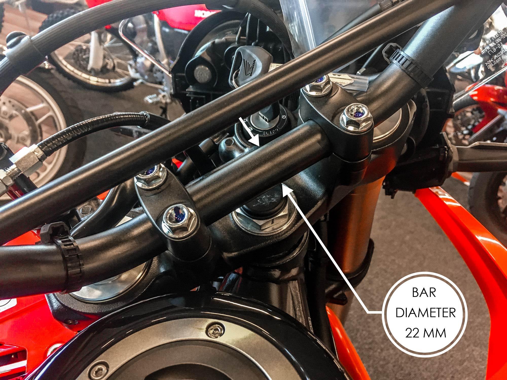 Honda CRF 250 Rally handle bar diameter