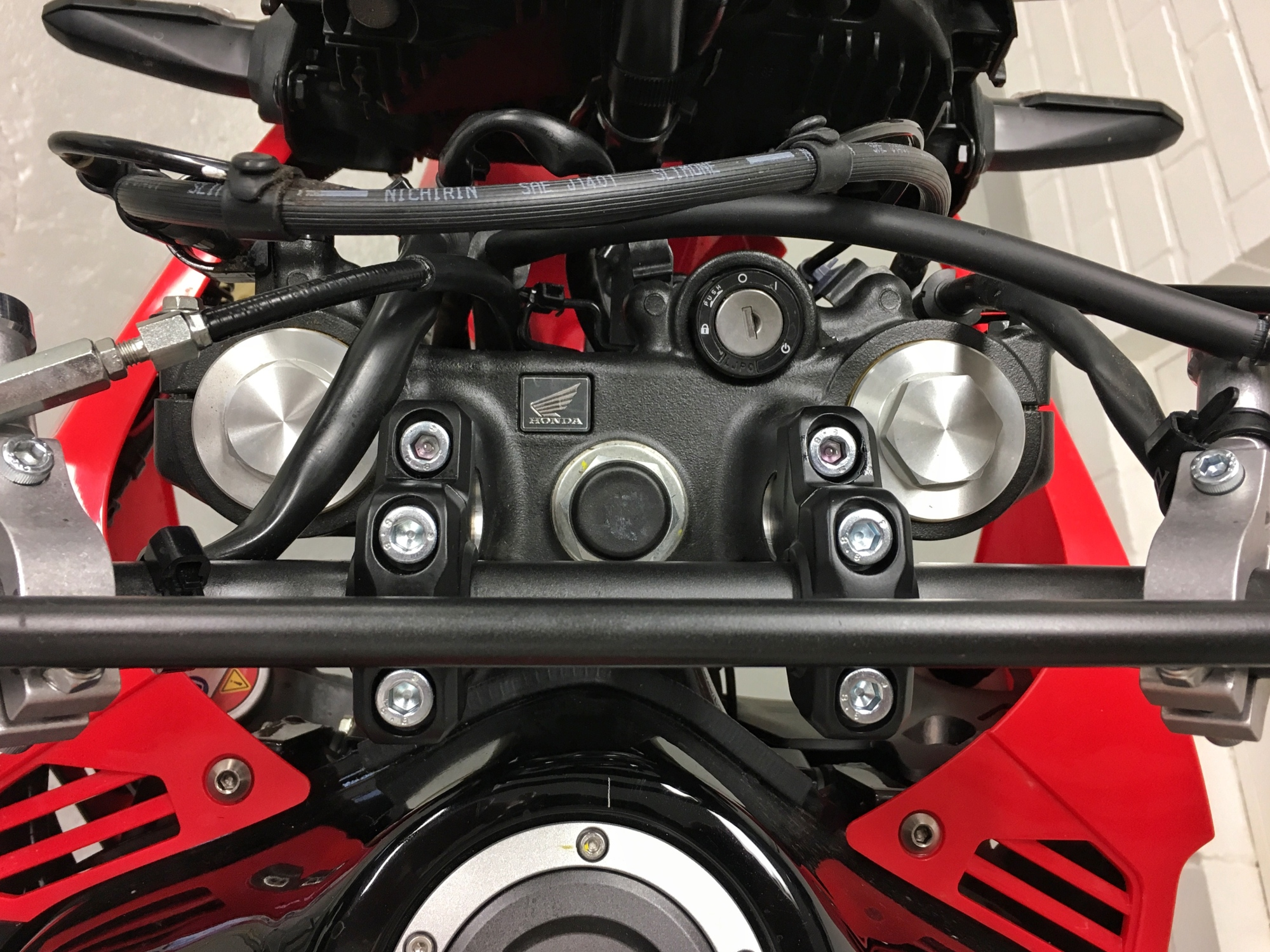 Sw-motech barback risers on Honda CRF 250 Rally