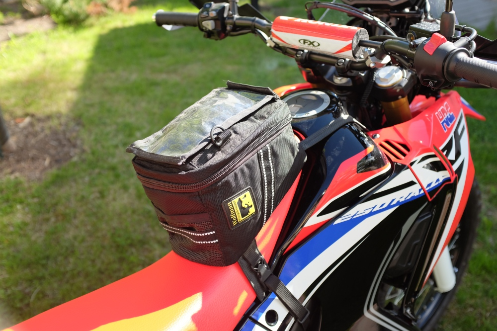 tank bag for the 250 rally project honda crf 250 rally. Black Bedroom Furniture Sets. Home Design Ideas