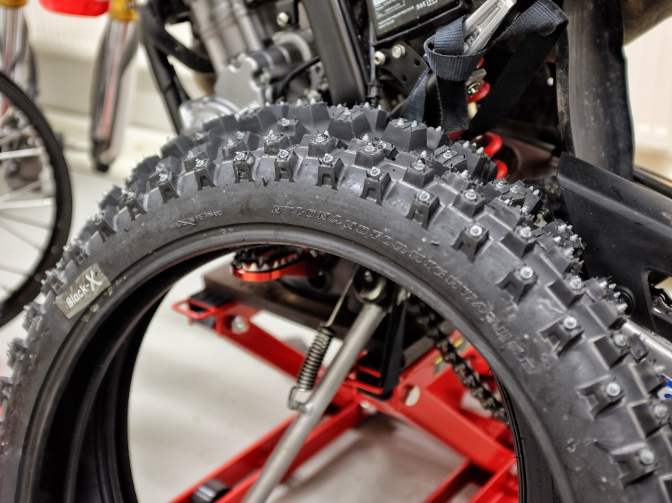 Winter tires for Honda CRF 25 Rally